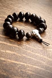 mens bracelet black beads images Black mens bracelet silver guru bead pillow book design jpg