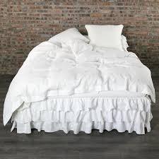 White Ruffle Duvet White Linen Duvet Cover Queen U0026 King Size Linenshed U2013 Linenshed