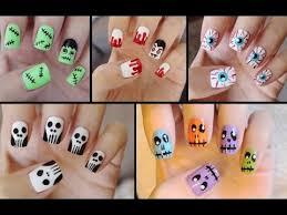 five cute u0026 easy halloween nail tutorials youtube