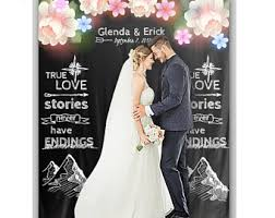 wedding backdrop quotes wedding tapestry etsy