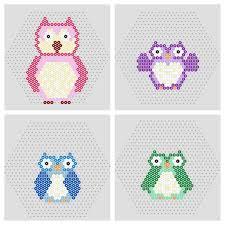 owl u0026 penguin free printable hama bead patterns beadmerrily hama