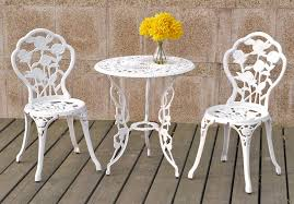 Cast Iron Bistro Chairs 3 Piece Cast Iron Bistro Table Set