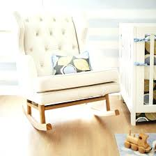 Modern Nursery Rocking Chair Top Modern White Baby Rocking Chair For Property Decor
