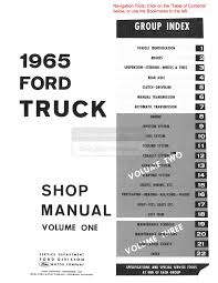 1965 ford truck f100 f350 shop service repair manual book engine
