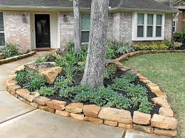 Rock Borders For Gardens Rock Borders Landscaping Services Rocks For Flower Bed