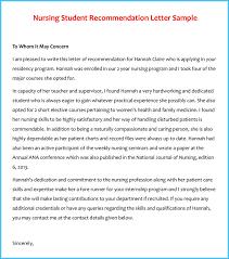letter of recommendation example nurse letter idea 2018