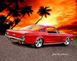 classic cars drawings rod art 1965 ford mustang fastback classic car