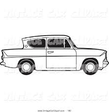 royalty free stock vintage car designs of coloring sheets