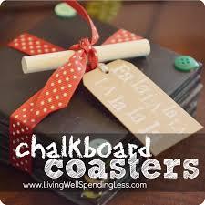 diy chalkboard coasters super cute handmade gift idea homemade