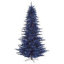 3 ft pre lit navy blue fir artificial christmas tree with blue
