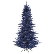 3 ft pre lit navy blue fir artificial tree with blue