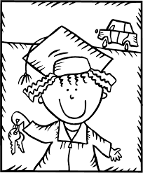 graduation coloring pages getcoloringpages com