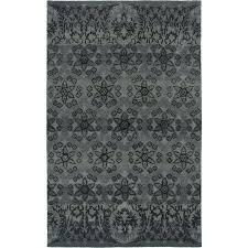 Karolus Area Rug 100 Blue Area Rugs 5x8 Handmade Wool Viscose Persian Blue