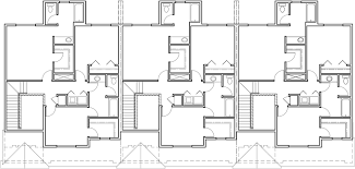 3 bedroom floor plans with garage triplex house plans townhouse with 2 car garage