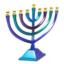 hanukkah menorah aluminium 10 25cm hanukkah menorah candle stand painted israel