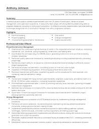 Resume Sample Quality Control by Pleasant Simple Construction Superintendent Resume Example To Get