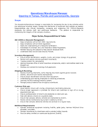 Supervisor Job Description For Resume by Warehouse Supervisor Job Description For Resume Free Resume