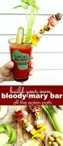 a build your own bloody mary bar is the quintessential tool for an