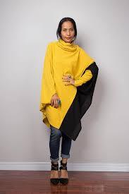 yellow sweater dress poncho two tone tunic yellow tunic batwing tunic top