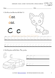 alphabet tracing worksheets how to write letter c
