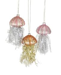 foster tinsel jellyfish ornaments 3 colors celebrate