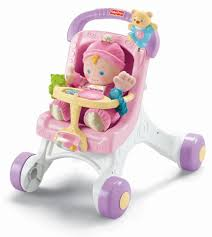 Fisher Price Doll House Furniture Fisher Price Brilliant Basics Stroller Styled Walker Toys