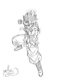dragon ball z gogeta coloring page by maantje007 on deviantart