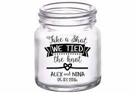 The Knot Favors by Take A We The Knot 4a Custom Mini Glasses