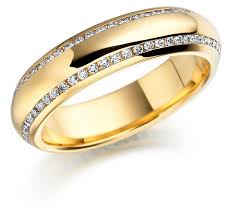 gold wedding rings gold wedding ring with cut diamondswedwebtalks wedwebtalks