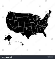 us map w alaska united states regions map alaska vector stock vector 337966559