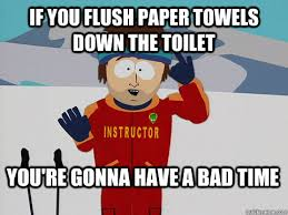 You Re A Towel Meme - if you flush paper towels down the toilet you re gonna have a bad