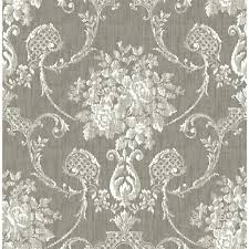 a street winsome grey floral damask wallpaper 2702 22749 the
