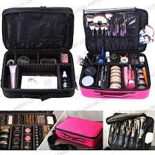 pro large makeup bag cosmetic case storage handle organizer artist