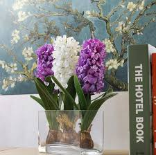 wedding gift table 10pcs hyacinth flower wih artificial flowers centerpiece