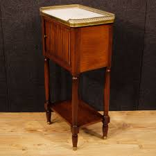 french mahogany night stand with marble top 1920s for sale at