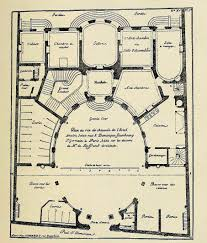 plan of boffrand u0027s hôtel amelot on rue saint dominique paris