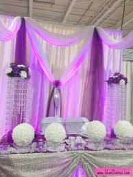 wedding reception table decorations ideas white purple wedding