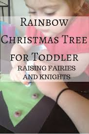 rainbow christmas tree for toddler an easy fun craft to do