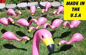 27 plastic pink flamingos yard lawn ornaments flock of 24 bulk lot
