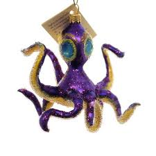 s world purple octopus glass ornament sbkgifts