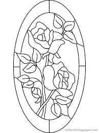 Flower Glass Design Free Coloring Pages For Adults Stained Glass Flower Coloring