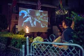 Things In A Backyard A Backyard Film Festival In Astoria Queens The New York Times