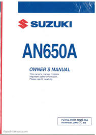 pdf 2003 2009 suzuki an650 burgman 650 service repair manual