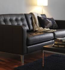 ikea leather sofa amazing of ikea leather sofa leather ikea karlstad i like the floor