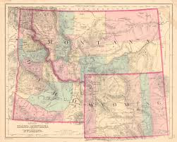 Billings Montana Map by Map Antique Gray U0027s Idaho Montana And Wyoming O W Gray U0026 Son