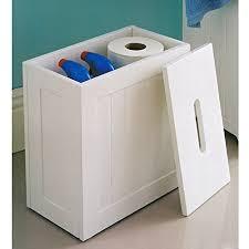 maine white bathroom storage unit toilet cleaning tidy box amazon