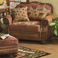 photo fascinating leather recliner with ottoman rustic pine