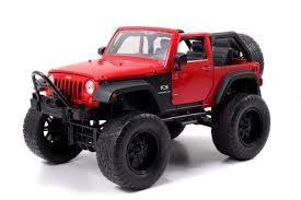 red jeep rubicon amazon com 2007 jeep wrangler red off road 1 24 by jada 97446