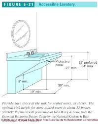 Bathroom Cabinet Height Ada Bathroom Cabinets In Compliant Toilet Height Ada Compliant Ada