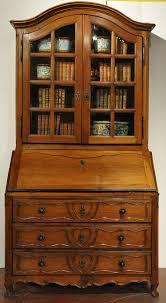 Folding Secretary Desk by 18th Century French Louis Xv Carved Walnut Secretary Bookcase With